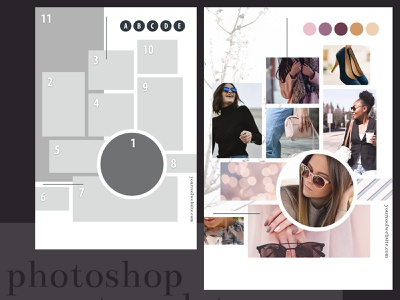 Fashion Chic Mood Board drag and drop drag n drop feminine design mood board moodboard photoshop template photoshop