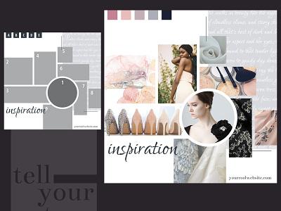 Fashion Chic Mood Board feminine design moodboard mood board instagram pinterest photoshop template photoshop