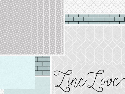 Line Love Pattern Collection line pattern geometric pattern vector pattern seamless patterns pattern