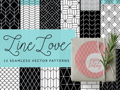 Line Love Pattern Collection line pattern geometric pattern seamless pattern vector pattern