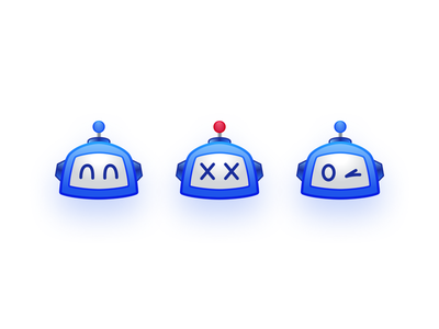 Prezi-Bot Emojis blue emoji bot robot illustration prezi