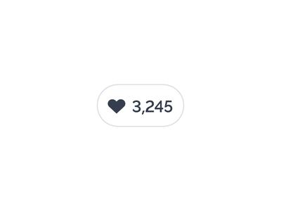 Simple Like Button ui web design app interaction animation like heart broken heart pink prezi valentines day dislike unlike icon