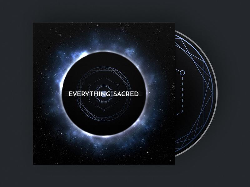Everything Sacred Album Cover album music black hole eclipse space logo design illustration
