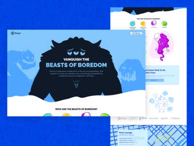 Beasts of Boredom - Landing Page
