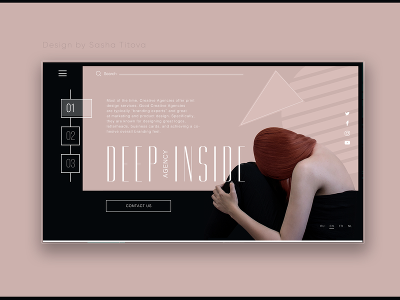 Deep Inside Agency webdesigner uiux web web concept ui uiux design landing page design consept
