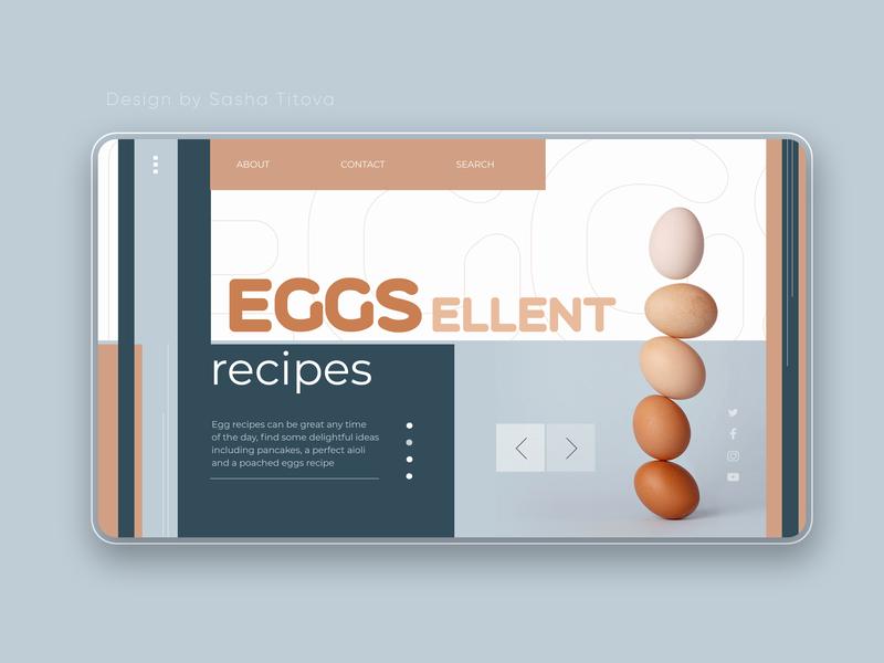 EGGSellent recipes web shot webdesign web concept web uiux design ui uiux landing page consept design