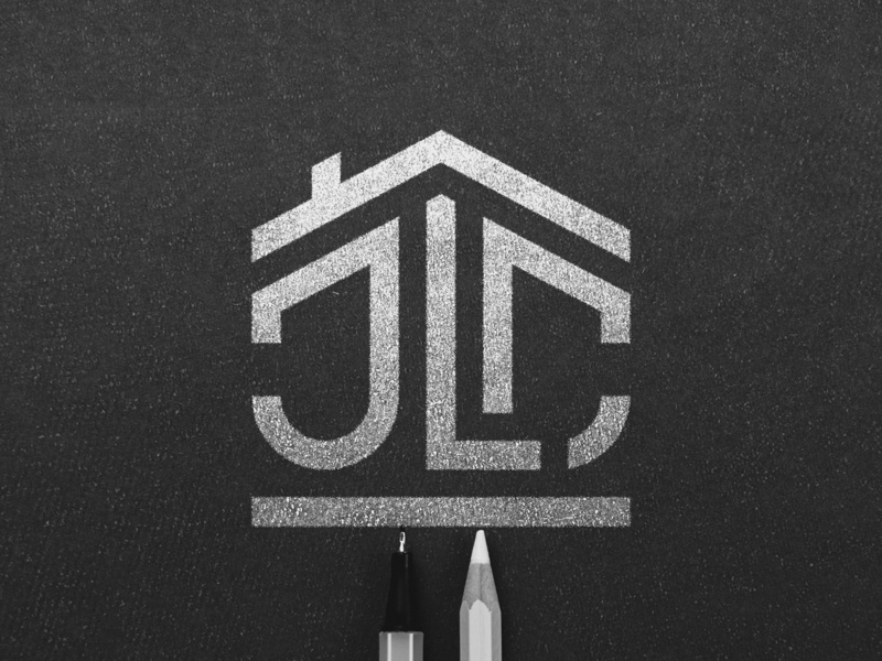JLC Home inspection logo home inspection simple house building houses words letter logo inspection house home jlc logo c logo j logo