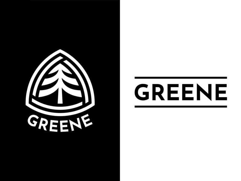 The Greene Co. logo triangel recycle green forest tree logo logo word symbol logo branding logodesign