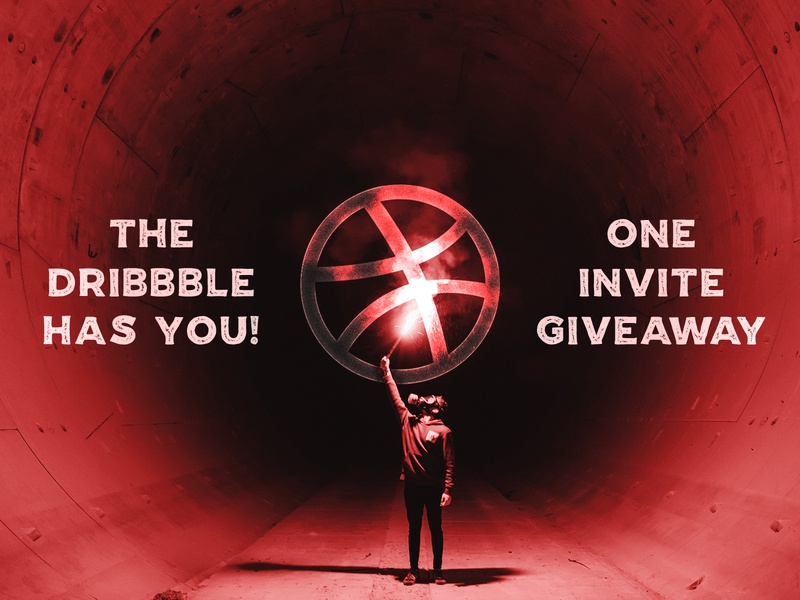 One invite to giveaway! chance dribbble invite new invite invite giveaway newbie ticket dribbble invitation invites invite