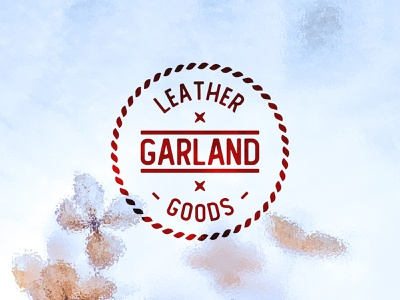 The Garland Leather Goods marine simple minimalist logo minimalistic circle logo idea branding handdraw rounded font handmade leather goods garland rope rounded leather