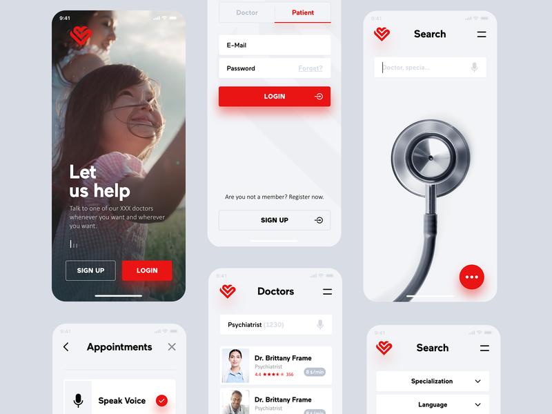 Online Physician Consultation App ui ux design consultation mobile app online doctor