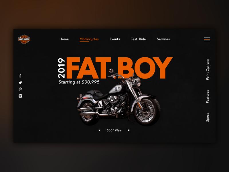 Harley Davidson Web Concept. website design ux ui