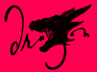 Dragon hand lettering hand drawn type art illustration type lettering zodiac dragon
