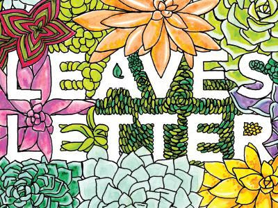 Leaves & Letters illustration coloring letters leaves