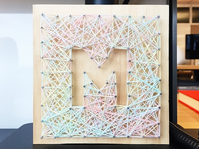 Tactile Type: M hand-made letter lettering m type tactile typography