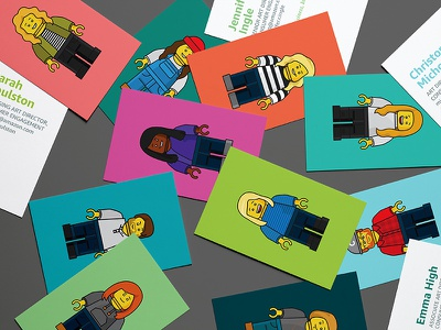 Lego League characters business cards illustration lego