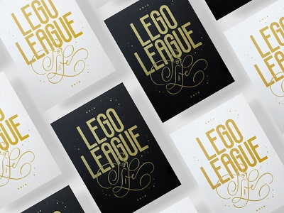 Lego League Poster poster design type lego league typography lettering silkscreen poster