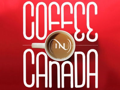 Coffee in Canada custom type typography type lettering coffee canada