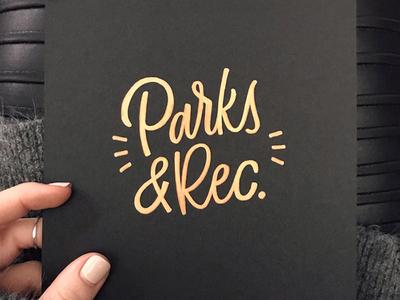 Parks & Rec parks sharpie typography type lettering parks  rec