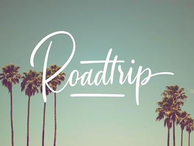 Roadtrip procreate typography type lettering roadtrip