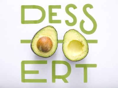 Dessert hand-drawn letters typography type lettering avocado dessert