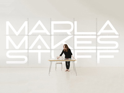 Marla Makes Stuff grid letters marla makes stuff lettering typography type