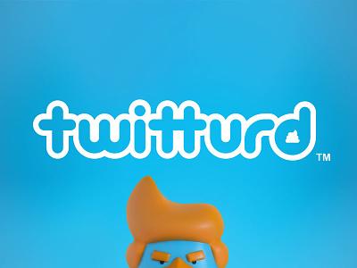 Twitturd Logotype ligature type logotype logo design branding twitturd