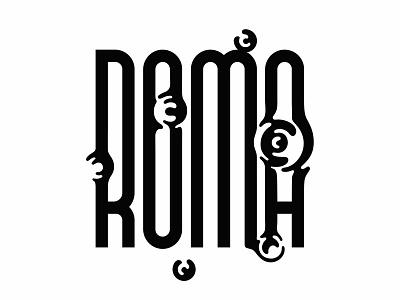 Roma lettering art illustration type art lettering type roma