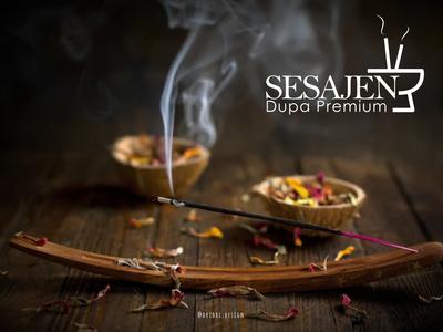 Sesajen - Incense brand logo tradition ritual incense icon design branding logo vector