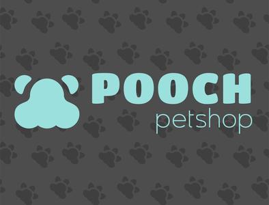 Pooch -  Petshop Logo doggy dog pet care pets design icon branding logo vector