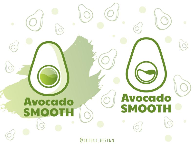 Avocado Smooth avocados avocado illustration design icon branding logo vector