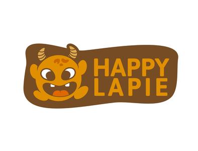 Happy Lapie - Cute monster Logo cute monster monster illustration design icon branding logo vector