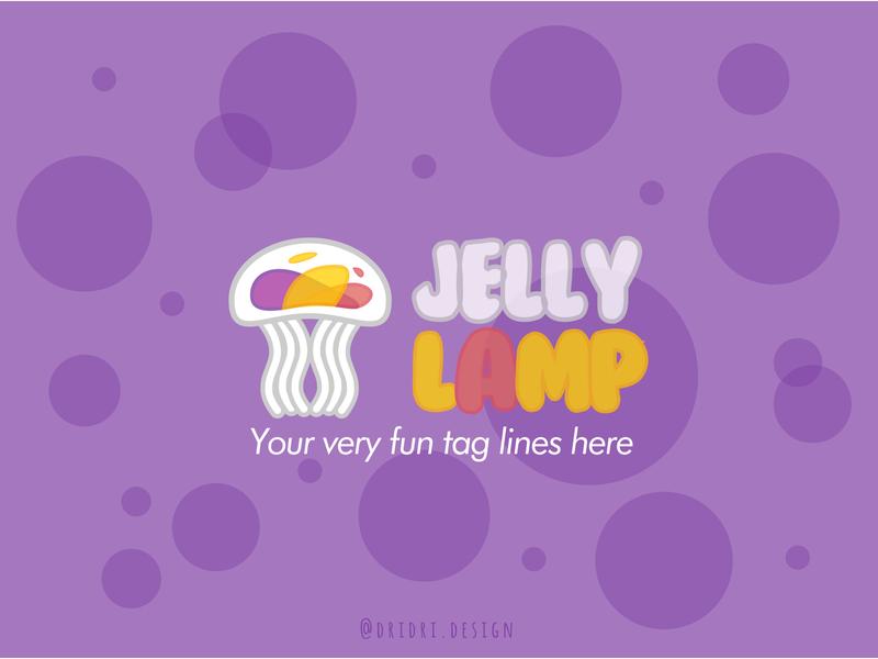 Jelly Lamp Logo cute lamp post jellyfish illustration design icon branding logo vector