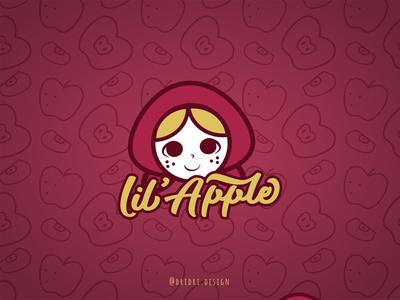 LiL' Apple Logo little girl apple little red riding hood girl character illustration design icon branding logo vector