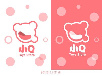 小Q - Toy store Logo toy store children cute logo illustration icon branding logo vector