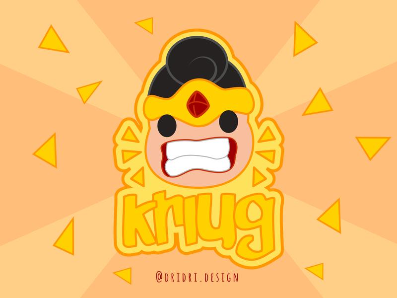 Kriug - Snack logo wayang snack logo indonesian illustration icon branding logo vector