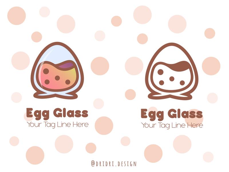 Egg Glass Logo glassware glass egg egg glass illustration daily logo design design icon branding logo vector