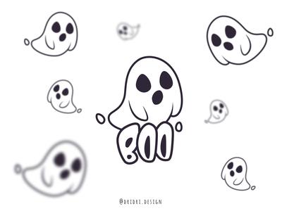 Boo Ghost Logo halloween cute cartoon cute art ghost cute illustration daily logo design design icon branding logo vector