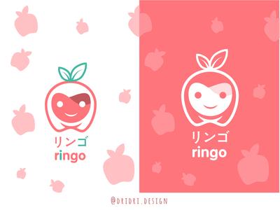 Ringo - Apple Logo kindergarten toys children apple kawaii illustration design icon branding logo vector