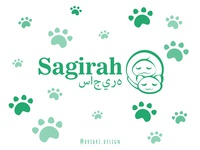Sagirah - Muslimah Cat Logo halal muslimah muslim cat illustration design icon branding logo vector