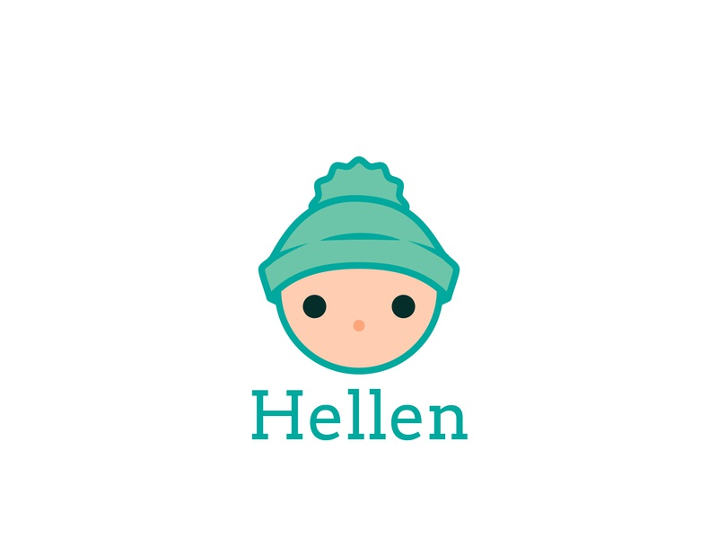 Baby Apparel Brand - Hellen apparel logo baby clothes daily logo design logodesignchallenge dailylogodesign design icon dailylogochallenge branding vector logo