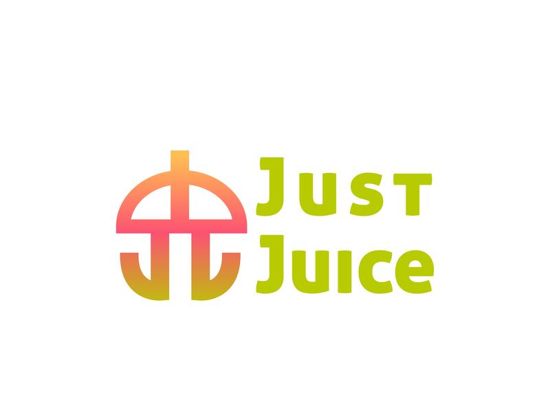 Juice or Smoothie Company - Just Juice juice logo juice bar daily logo design logodesignchallenge dailylogodesign design icon dailylogochallenge branding vector logo