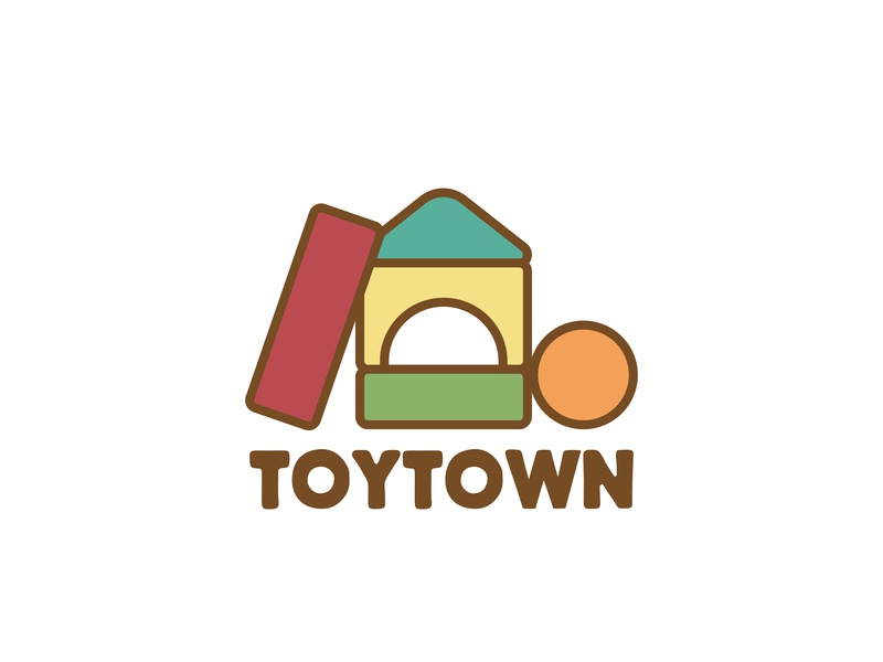 Toy Store - Toy Town toy store daily logo design logodesignchallenge dailylogodesign design icon dailylogochallenge branding vector logo