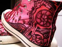 handdrawn custom Converse