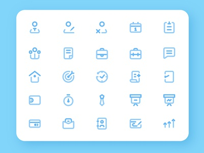 Business and Management Icons Set icons set web app website design ux ui icon vector