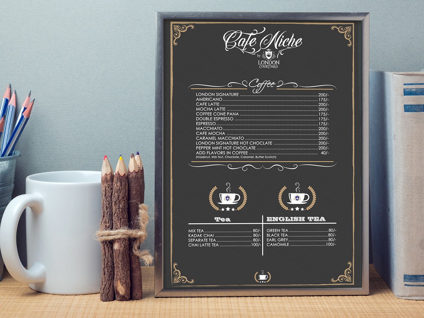 menu design vector desi flat website ideas logo ux pakistan branding ui graphicdesign art illustration gold graphic identity artdirection advertisement design typography