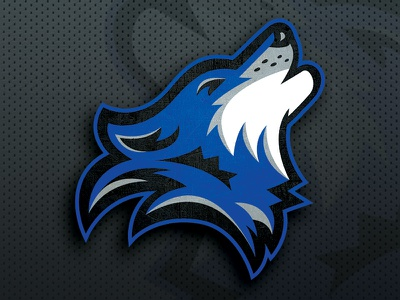 Los Lobos Main Logo howling los lobos lobos lobo wolf logo wolf sports sports logo fantasy football football