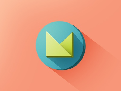 """""""M"""" - WIP  abstract letter letter form flat flat design icon logo branding identity"""