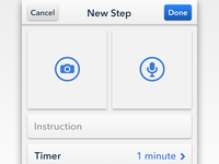 Stepping Stones — New Step UI