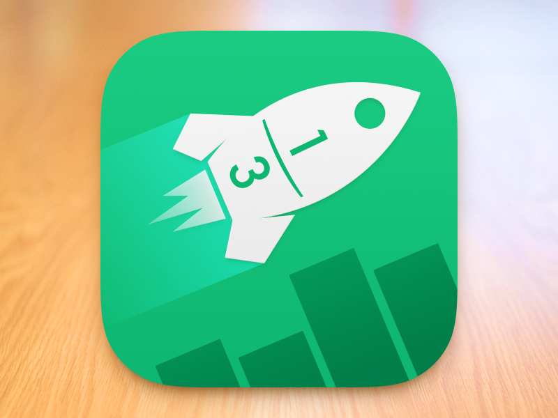 Quick Fractions — App Icon shiny things ios icon maths education game ios7 quick australian fractions app icon